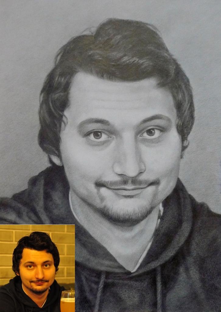 портрет карандашом мужчины