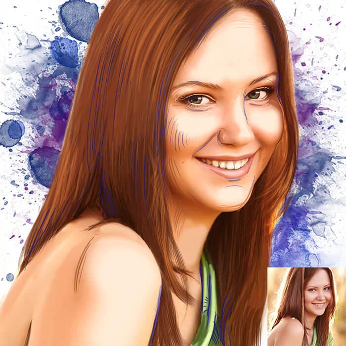 Скетч портрет в стиле поп-арт