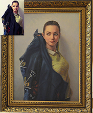 портрет маслом на заказ цена