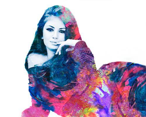 Инк калор портрет - портрет в стиле цветной туши