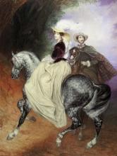 Всадники. Парный портрет Е. Мюссара и Э. Мюссар., Брюллов