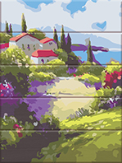"Картина для росписи по номерам ""Французский пейзаж"" 30 х 40 см ASW139"