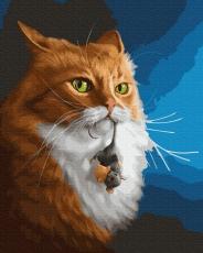 """Картина для росписи по номерам """"Кот с мышкой"""" 40 х 50 см BK-GX27371"""