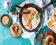 """Картина для росписи по номерам """"Вкусный завтрак"""" 40 х 50 см BK-GX31022"""