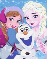 """Картина для росписи по номерам """"Холодное сердце"""" 40 х 50 см BK-GX35299"""