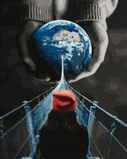 """Картина для росписи по номерам """"Всё, что можно вообразить — реально. Джастин Петерс"""" 40 х 50 см BK-GX37965"""