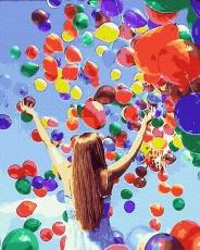 """Картина для росписи по номерам """"Праздничные шарики"""" 40 х 50 см BK-GX39288"""