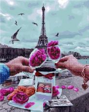 """Картина для росписи по номерам """"Свидание в Париже"""" 40 х 50 см GZS1164"""