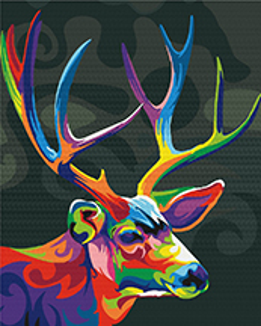 Красочный олень
